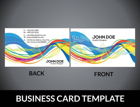 Abstract colorful artistic business card template vector abstract colorful artistic business card template vector illustration stock vector 35955514 colourmoves