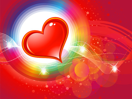 abstract shiny colorful valentine background vector illustration Vector