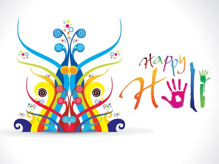thali: abstract artistic colorful holi illustration Illustration