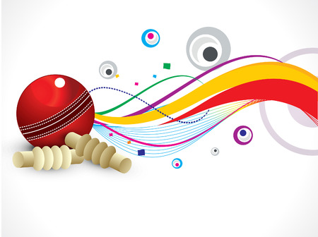 cricket game: abstract colorful cricket background vector illustration Illustration