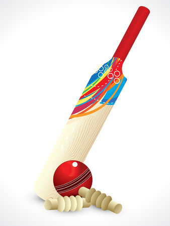 cricket: abstract detailed cricket bat vector illustration