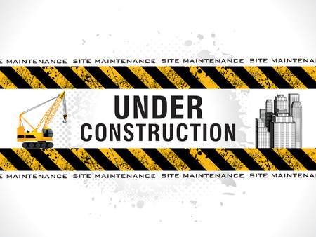abstract grungy under construction background vector illustration