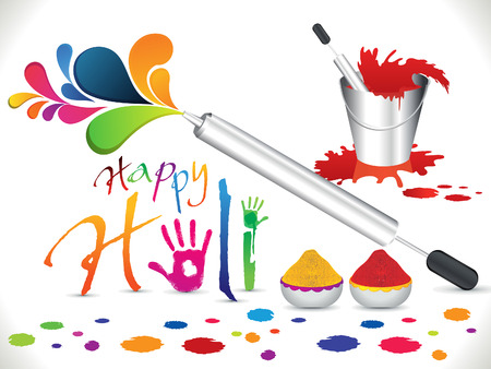 abstract artistic holi background vector illustration Vector