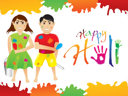 thali: abstract artistic holi background vector illustration Illustration