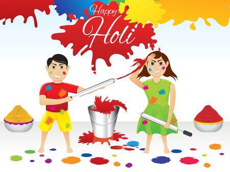 abstract artistic holi splash background vector illustration Vector