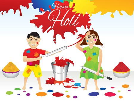 thali: abstract artistic holi splash background vector illustration