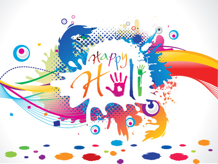 abstract artistic holi background illustration Vector
