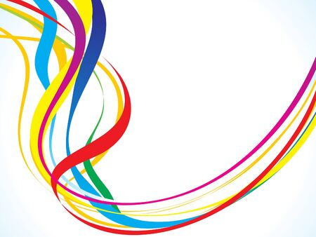 curving: abstract rainbow curving wave vector illustration