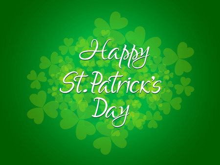 patric: abstract st patrick day text vector illustration