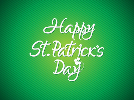 st patric: abstract artistic st patrick text vector illustratioin