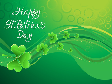 st patric day: abstract artistic st patrick background vector illustratioin
