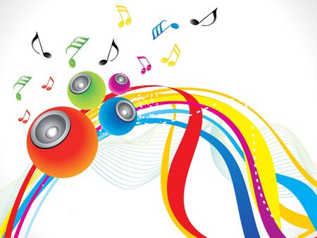 discoteque: abstract rainbow musical wave background vector illustratioin
