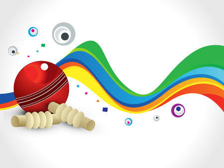 cricket sport: abstract colorful cricket wave background vector illustration
