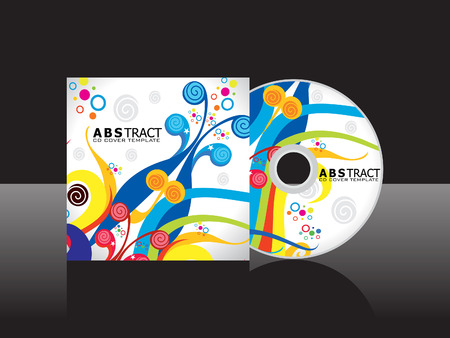 dvd cover: abstract artistic cd cover template vector illustration