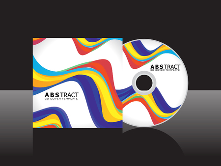cd cover: abstract rainbow cd cover template vector illustration Illustration