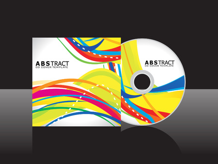 abstract yellow cd cover template vector illustration Illustration