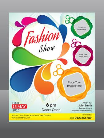 fashion flyer template vector illustration
