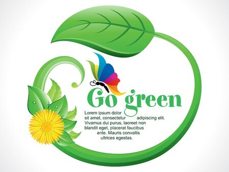 go green background: abstract artistic go green background vector illustration Illustration