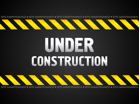 construction background: abstract black under construction background vector illustration