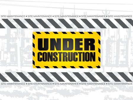 construction background: abstract under construction background vector illustration Illustration