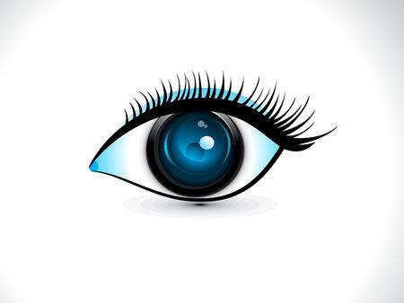 safty: abstract artistic detailed safty digital eye vector illustration