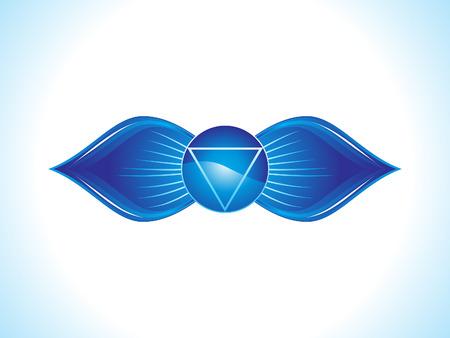 brow: sopracciglio dettagliata illustrazione vettoriale chakra