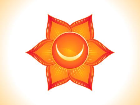 sacral: gedetailleerde sacrale chakra vector illustratie Stock Illustratie