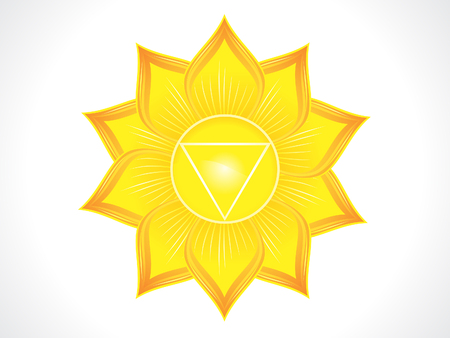 case history: detailed solar plexus chakra vector illustration Illustration