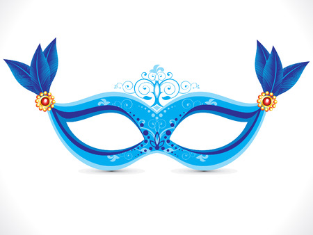 masquerade party: abstract artistic blue mask vector illustration Illustration