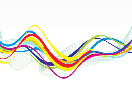 wave: abstract colorful line wave background vector illustration Illustration