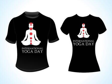 kundalini: abstract yoga day tshirt vector illustration