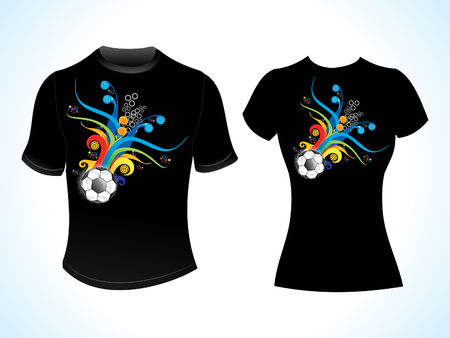 short: abstract football tshirt template vector illustration