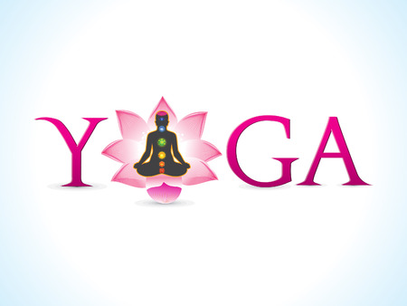 abstract artistic yoga text vector illustration