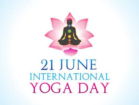 spiritual: abstract yoga day background vector illustration
