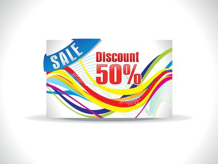 prepaid: abstract colorful discount card template vector illustration