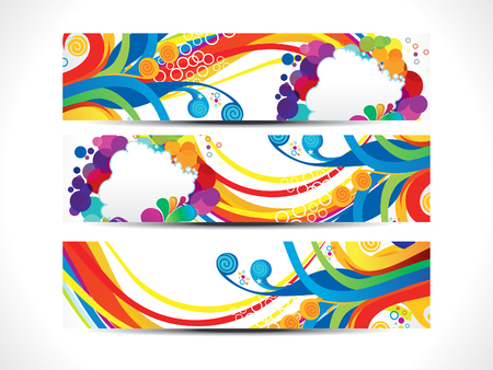 banners web: abstract artistic colorful web banners vector illustration