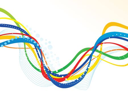 artistic: abstract artistic colorful line wave vector illustration