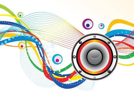 discoteque: abstract artistic sound background vector illustration