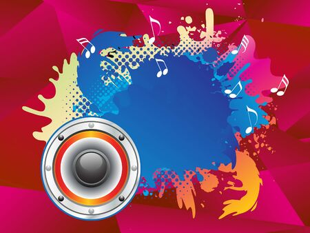 discoteque: abstract colorful musical sound explode vector illustration Illustration