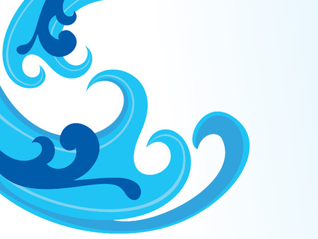 blue wave: abstract artistic blue wave background vector illustration Illustration