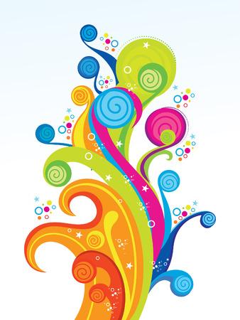 abstraktní: abstraktní barevné umělecké explodovat ilustrace Ilustrace