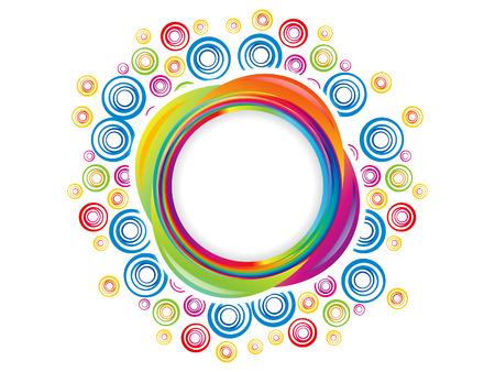 rainbow circle: abstract colorful artistic rainbow circle explode vector illustration