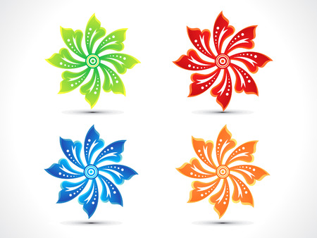 abstract artistic colorful multiple floral vector illustration