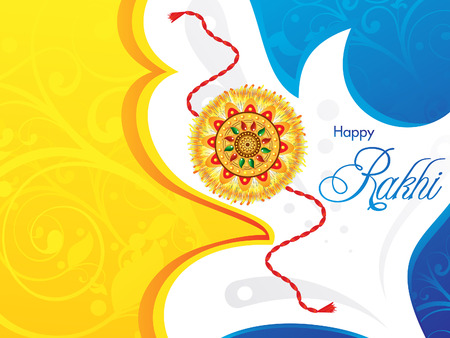 raksha: abstract raksha bandhan background  vector illustration Illustration