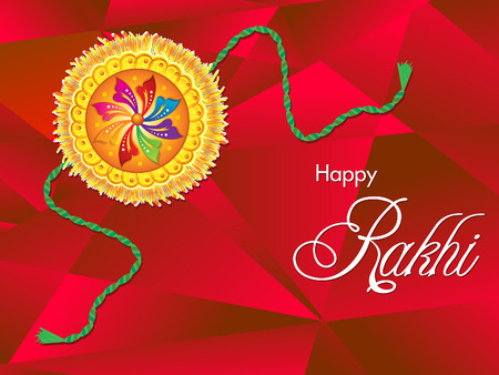 raksha: abstract artistic raksha bandhan background vector illustration