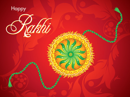 bahan: abstract red raksha bandhan background vector illustration Illustration
