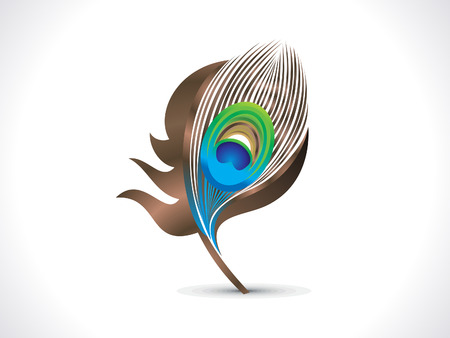 peacock: abstract artistic peacock feather vector illustration