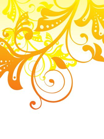 illustration abstract: abstract orange based floral vector illustration
