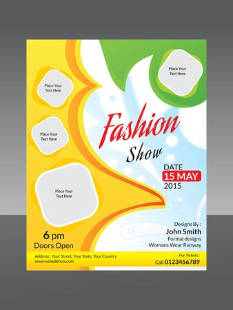 show: abstract fashion flyer template vector illustration Illustration