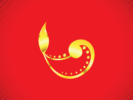 divinity: abstract artistic golden diwali vector illustration